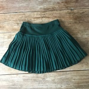 7c5d7c7f0754 Monnalisa forest green pleated skirt